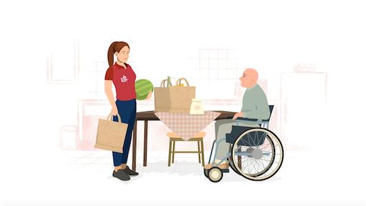 Mobile Pflegekraft bei den Wiener Sozialdiensten