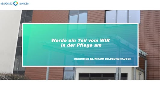 Karriere als Pflegekraft beim Regiomed Klinikum in Hildburghausen